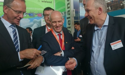Minister of Economic Affairs Mr Henk Kamp visits MTT at Hannover Messe