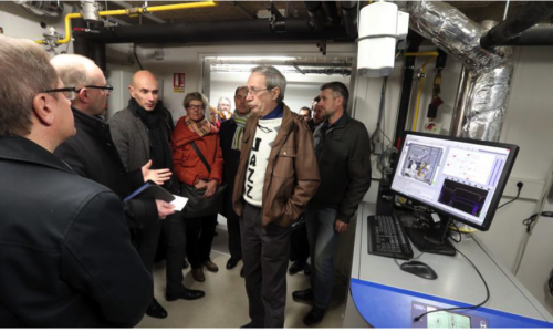 France, February 7, 2017: The First Micro CHP for a Residential Area